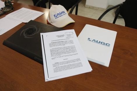 Denuncia interpuesta por el agente, asesorado por el sindicato AUGC.   J. Martí