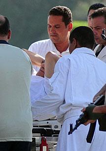 El rais, al salir de prisión. AFP