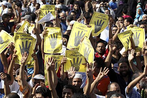 Seguidores de los Hermanos Musulmanes, el viernes.   Reuters