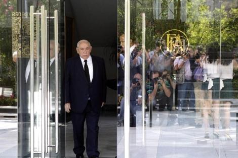 El presidente del grupo, Isidoro Álvarez, a su llegada a la junta de accionistas. | Efe