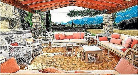 Imagen del interior de Can Botana, cercana al Port de Pollença.