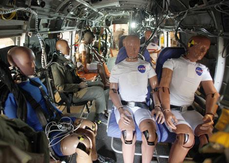 A bordo iban 13 muñecos de pruebas. | NASA