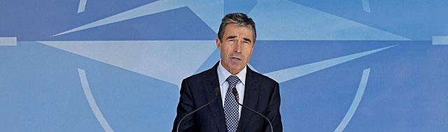 El secretario general de la OTAN, Anders Fogh Rasmussen, en Bruselas. | Reuters