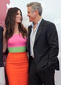Bullock y Clooney, en Venecia. | Efe