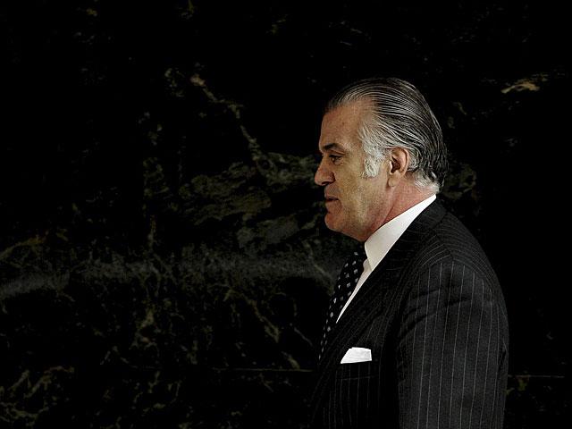 El ex tesorero del PP Luis Bárcenas saliendo de la Audiencia en julio. | Pedro Armestre / Afp