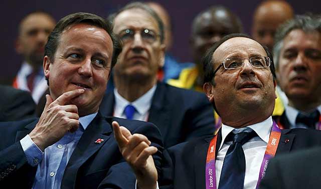David Cameron y François Hollande, los más firmes partidarios de atacar a Asad. | Reuters