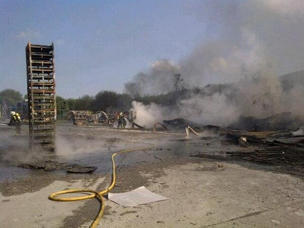 Incendio de la empresa Maier.|E.M.