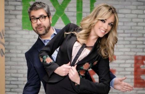 Los presentadores del programa Florentino Fernández y Anna Simón.