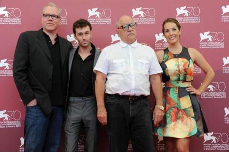 El equipo de la película de 'The Canyons', excepto la desaparecida Lindsay Lohan. | Efe