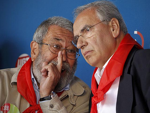 Cándido Méndez y Alfonso Guerra en la cita de 2011. | Alberto Di Lolli