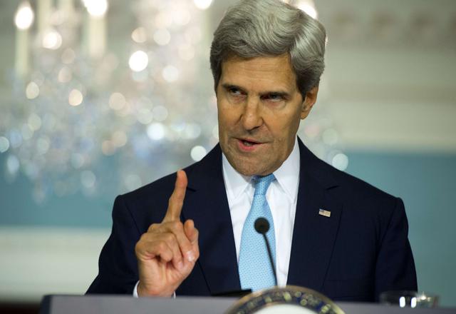 John Kerry durante su intervención.| Afp