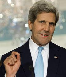 Kerry en la presentación de pruebas.