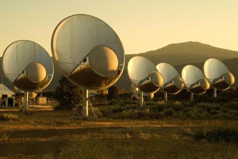 Red de antenas en el observatorio de Hat Creek.| SETI