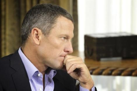Imagen de Lance Armstrong, durante su entrevista con Ophra Winfrey en enero. | REUTERS