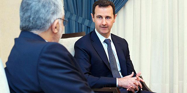 Asad, este domingo con un alto responsable iraní. | Sana