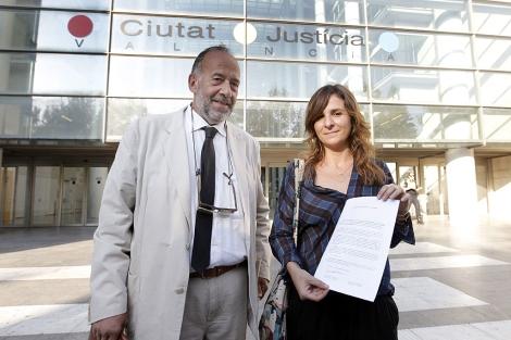La presidenta de la Asociación de Víctimas del Metro, Beatriz Garrote. | Efe