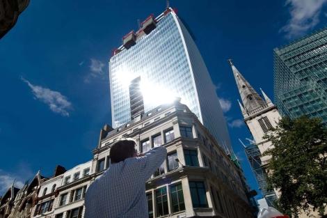 """Edificio """"Walkie Talkie"""" en Londres.   Afp"""