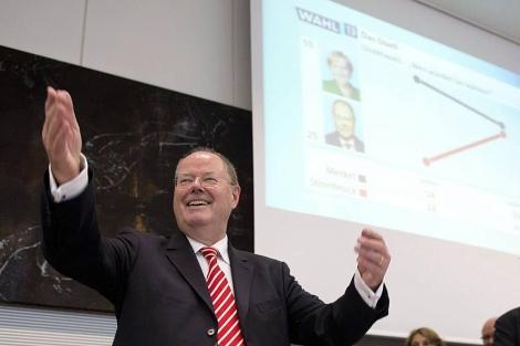 El candidato Socialdemócrata Peer Steinbrück en el Bundestag.   Efe
