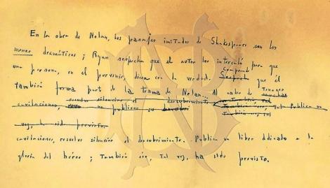 Manuscrito descubierto dentro de una revista.   Biblioteca Nacional de Argentina