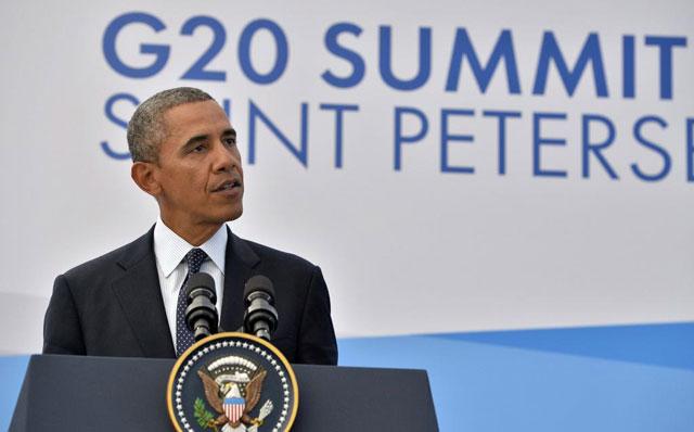 Obama en San Petesburgo.  Afp   VEA MÁS FOTOS