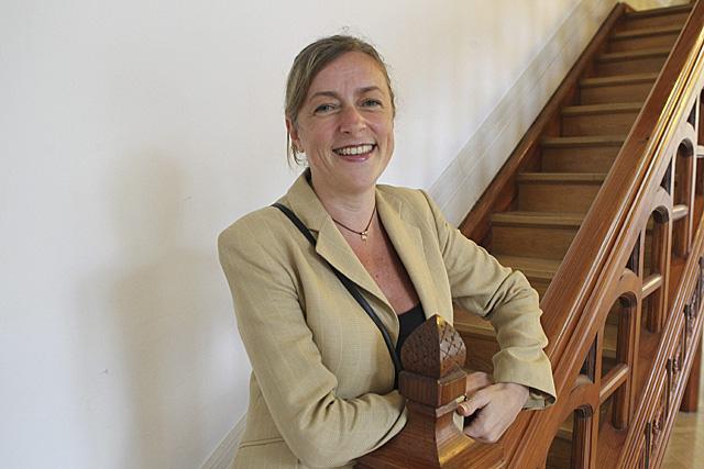 María Pilar Canedo, presidenta de la Autoridad Vasca de la Competencia, en el palacio Miramar de San Sebastián.