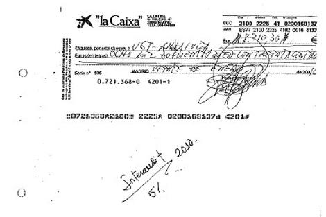 Abono bancario por parte de la auditora de la comisión del 5%. | EM