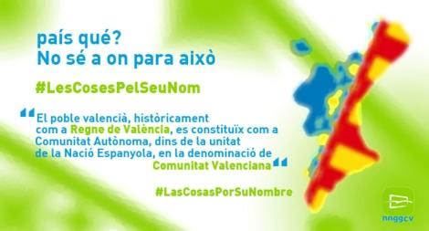 Imagen de una de las campañas de NNGG de la Comunidad Valenciana.