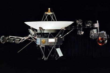 Recreación artística de la sonda Voyager 1.   NAS