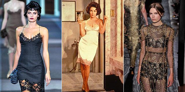 Propuestas de Vuitton y Valentino Couture. En el centro, Liz Taylor. | Gtres