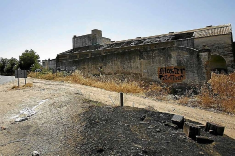 Los restos del antiguo campo para presos-esclavos, sin señalizar.   Esther Lobato