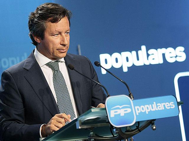 Carlos Floriano, en la rueda de prensa celebrada en Génova.   Tarek