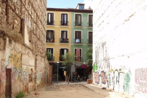 Solar urbano en la calle Hortaleza de Madrid . | J. F. L.