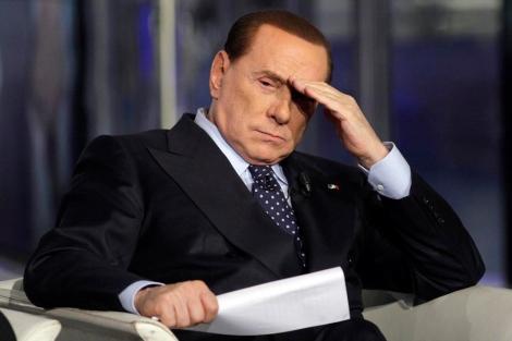 Berlusconi, antes de participar en una emisión del programa 'Porta a porta'.