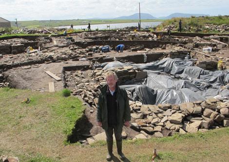 El arqueólogo y director de las excavaciones, Nick Card.   Carlos Fresneda