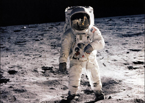 Buzz Aldrin sobre la superficie lunar. | NASA