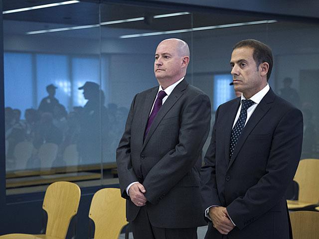 Pamies y Ballesteros, durante el juicio.   Efe