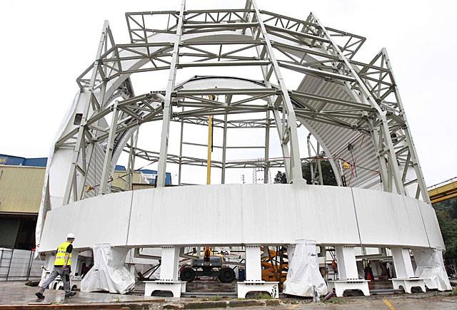 La estructura para el proyecto ATST, el telescopio solar de tecnología avanzada.