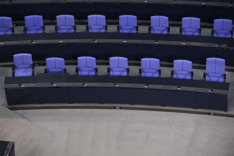 La bancada gubernamental del Bundestag.   Afp