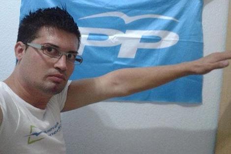Fotografía que colgó Óscar Rodríguez en las redes sociales.