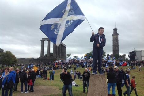 Imagen de la marcha independentista de Escocia