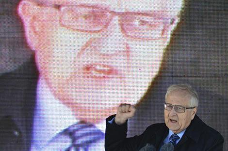 El candidato del Partido Liberal (FDP), Rainer Brüderle. | Efe