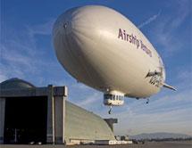 El zeppelín utilizado para buscar fragmentos | Airship Ventures