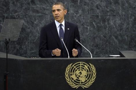 Barack Obama, durante su intervención en la ONU.  Efe