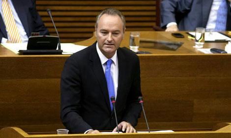 El presidente de la Generalitat, durante su intervención.