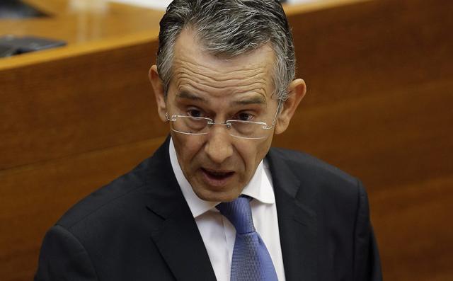 Antonio Torres, durante su intervención en el Debate de Política General. | Efe