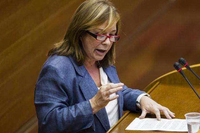 Marga Sanz, durante su intervención en el Debate de Política General. | Efe