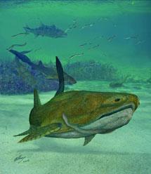 Recreación artística de 'Entelognathus primordialis'.| Brian Choo.