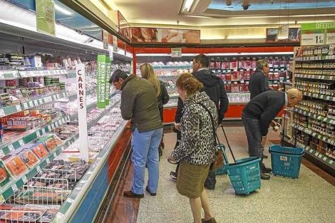 Un supermercado en Valladolid. | El Mundo