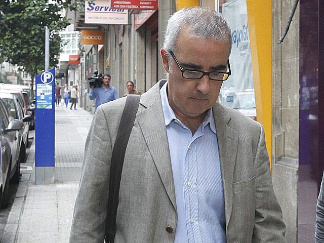 Alfonso Basterra, el padre de la niña muerta, fotografiado el martes. | Xoan Rey / Efe