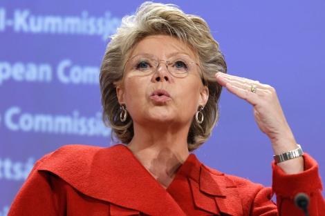 La vicepresidenta de la Comisión Europea y responsable de Justicia, Viviane Reding.| Reuters